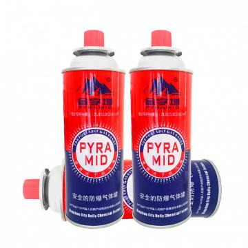 227g Round Shape Portable Liquefied Butane Gas for Portable Cassette Stove