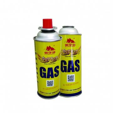 190g 220g 250g China Supplier Household Butane Gas Cartridge For Camping