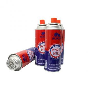 220G nozzle type Portable butane gas canister made in china