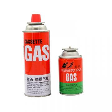 BBQ lighter gas Round Shape Portable butane gas cartridge can for portable gas stove