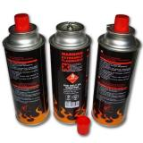 Butane gas cartridge cans with camping fuel gas cans